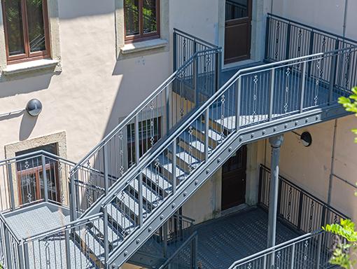 escalier tournant avec paliers