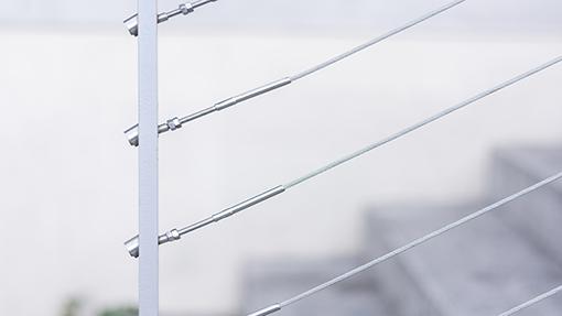 garde-corps à câble ou à tube horizontal
