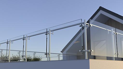 garde-corps en verre idéal pour les escaliers et balcons
