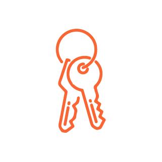 icône clés perdues