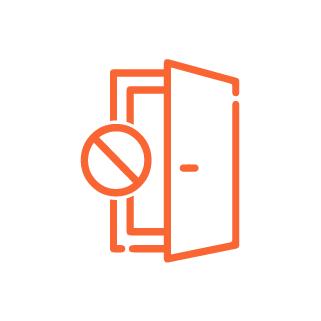 icône porte fermée